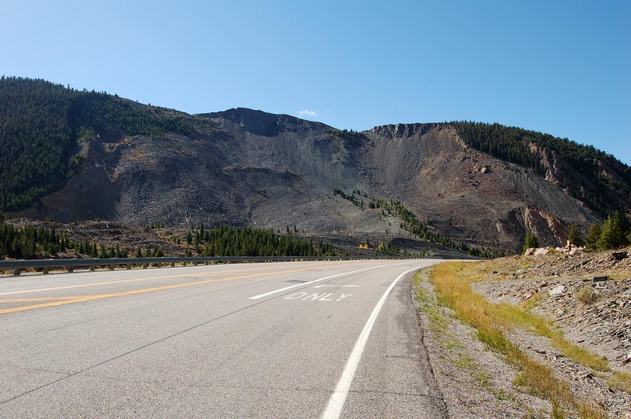 Evidence of landslide