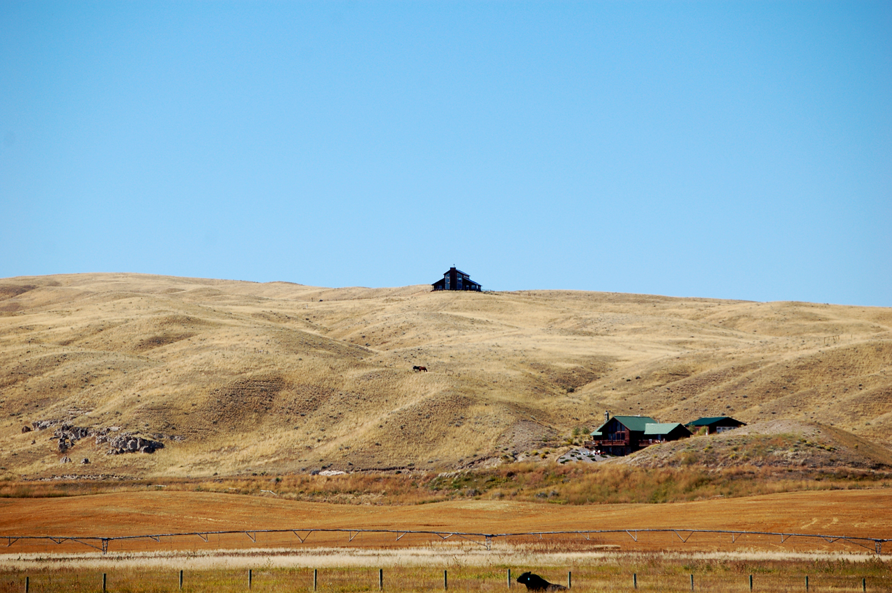 Lonely house on a hill