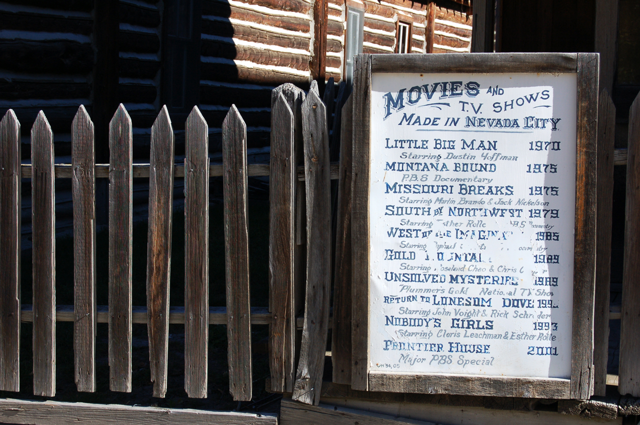 Nevada City, scene of many Westerns