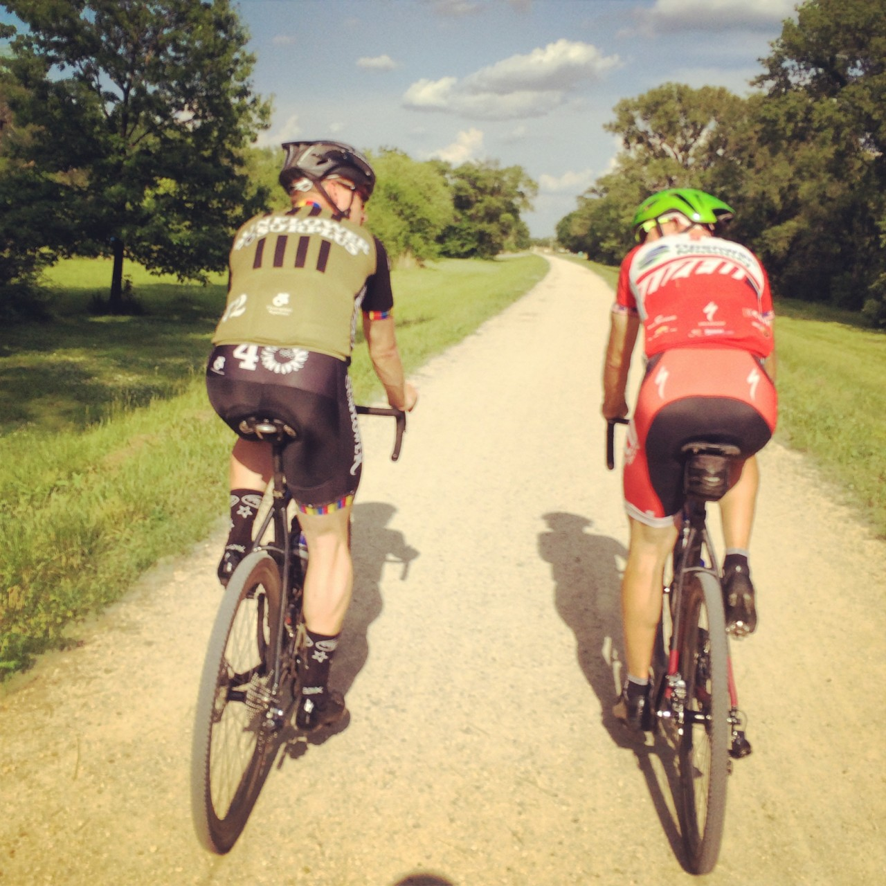 Dan and The Langster on a shakedown ride in Lawrence, KS.