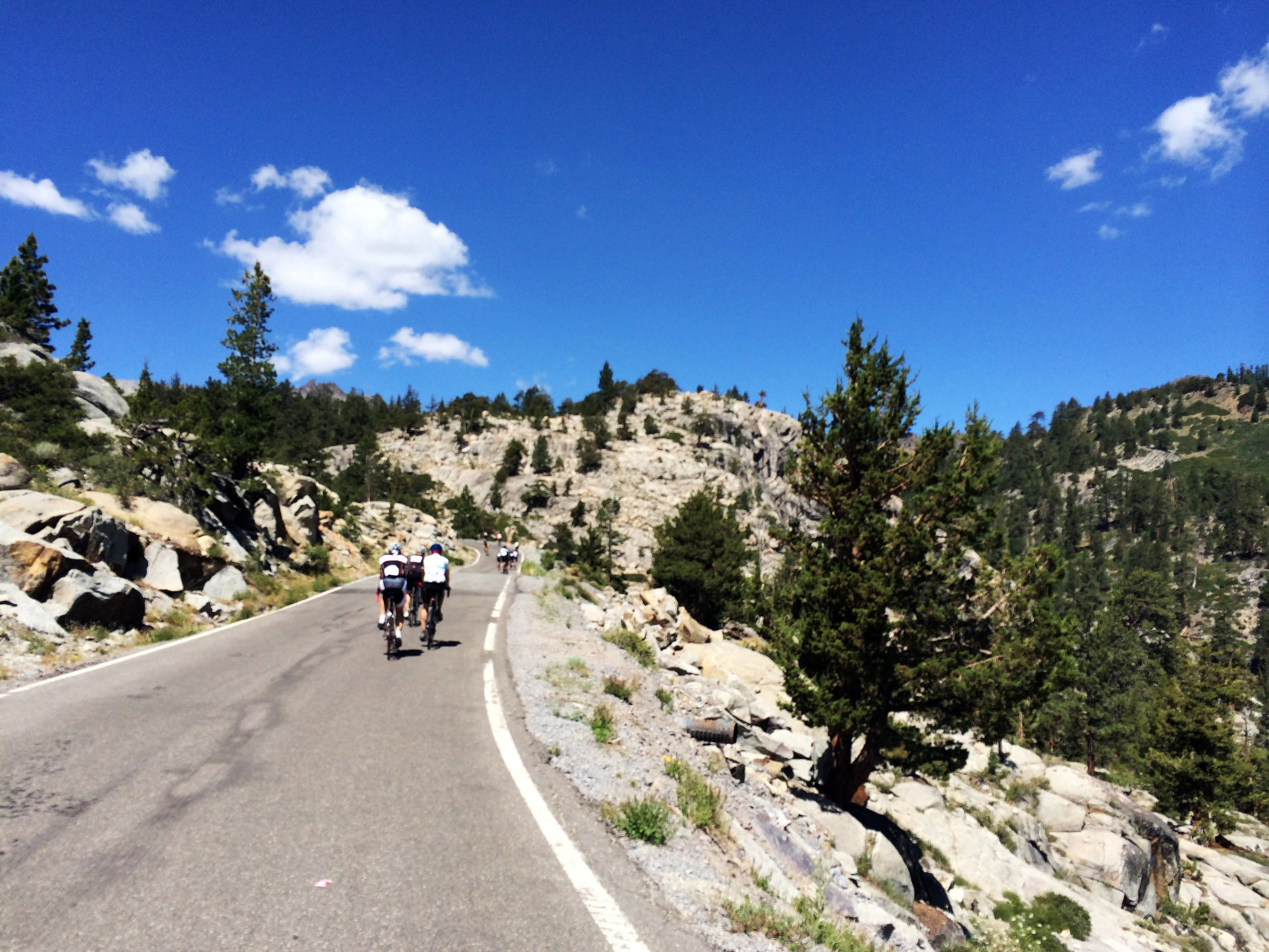 Climbing up Ebbetts Pass