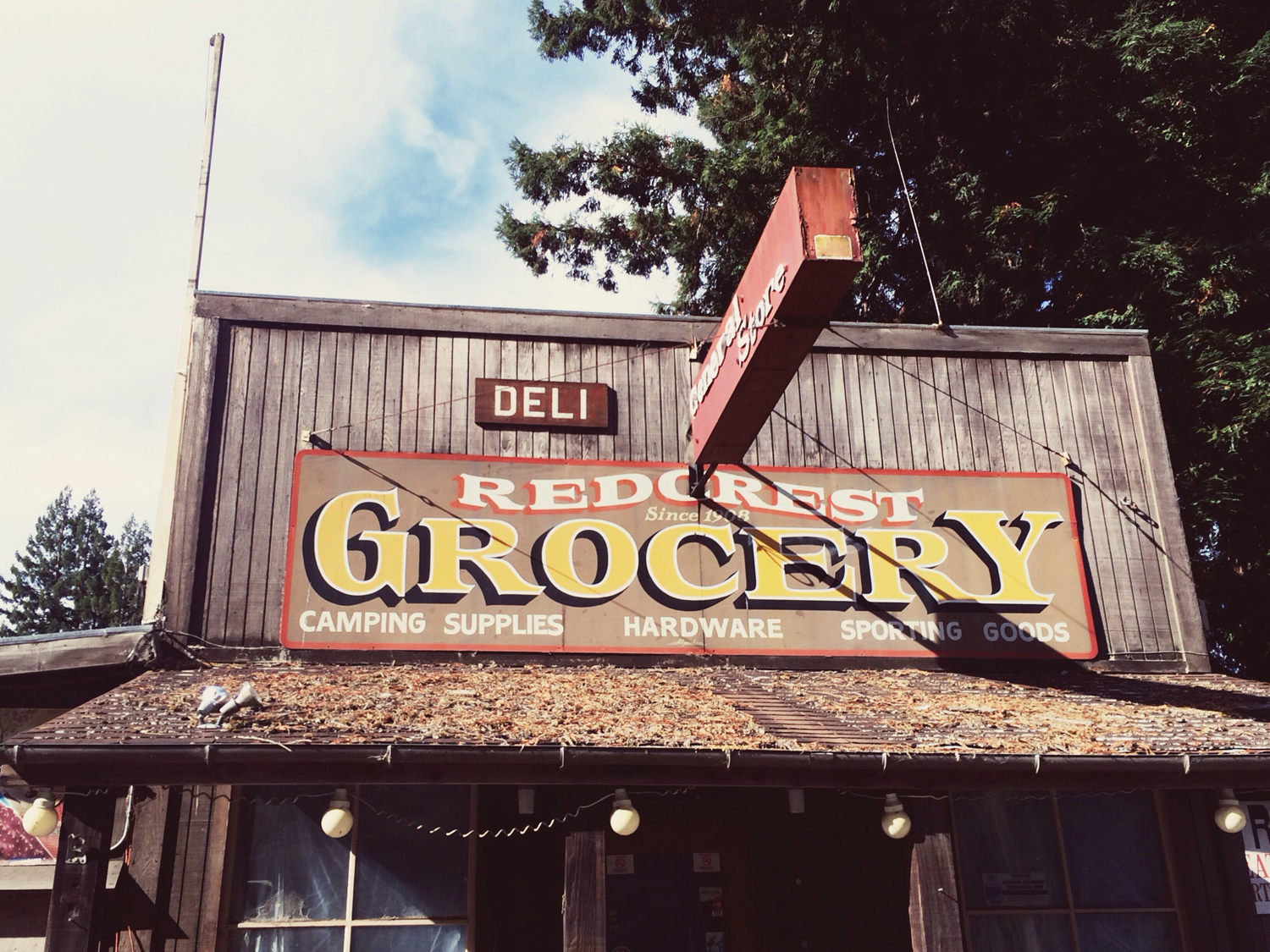 Abandoned Grocery store in Redcrest, CA