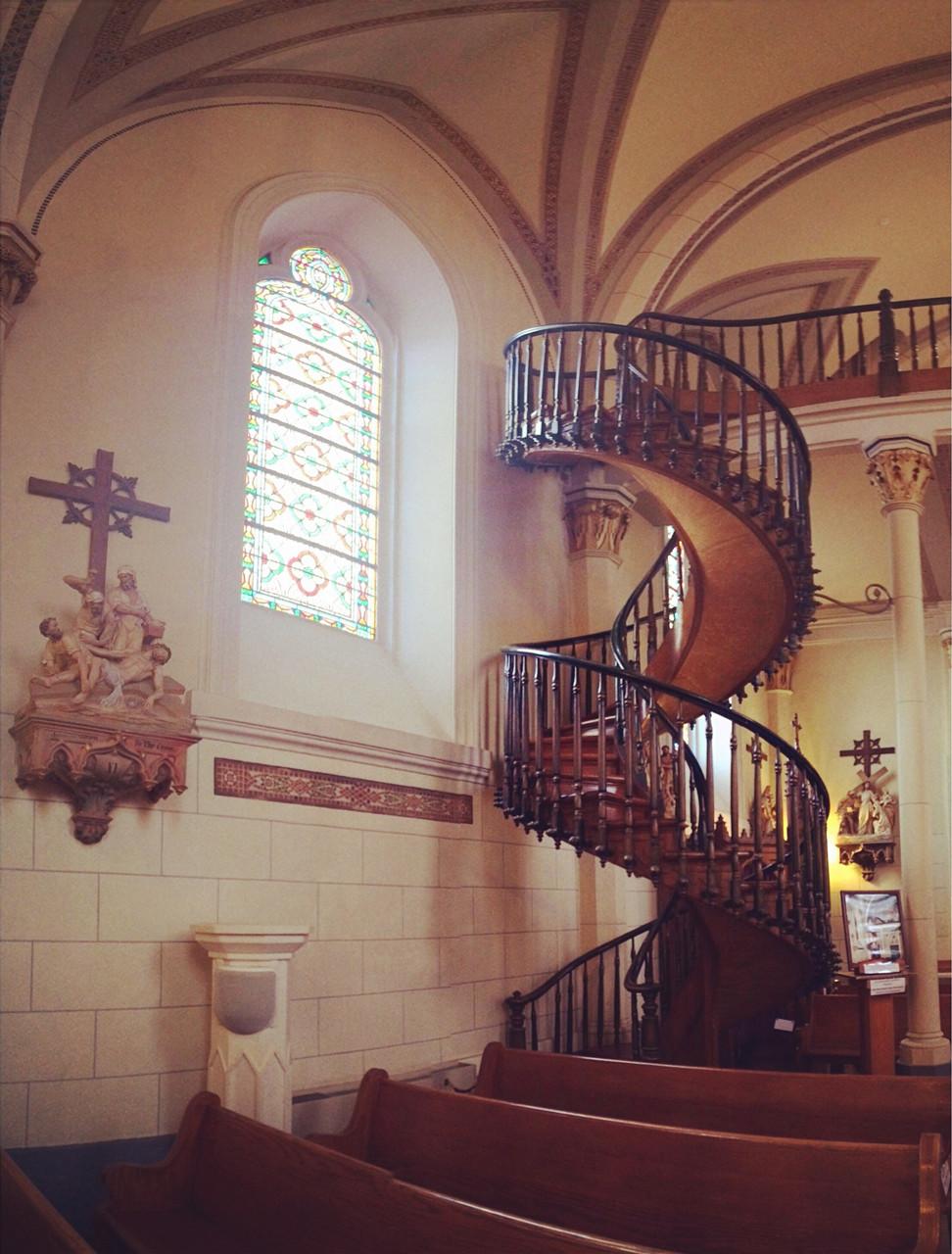 Loretto Chapel staircase, Santa Fe.