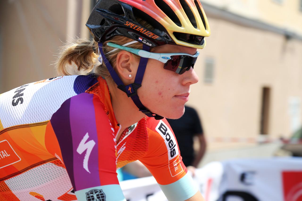 Ellen Van Dijk rolls through, looking cool.