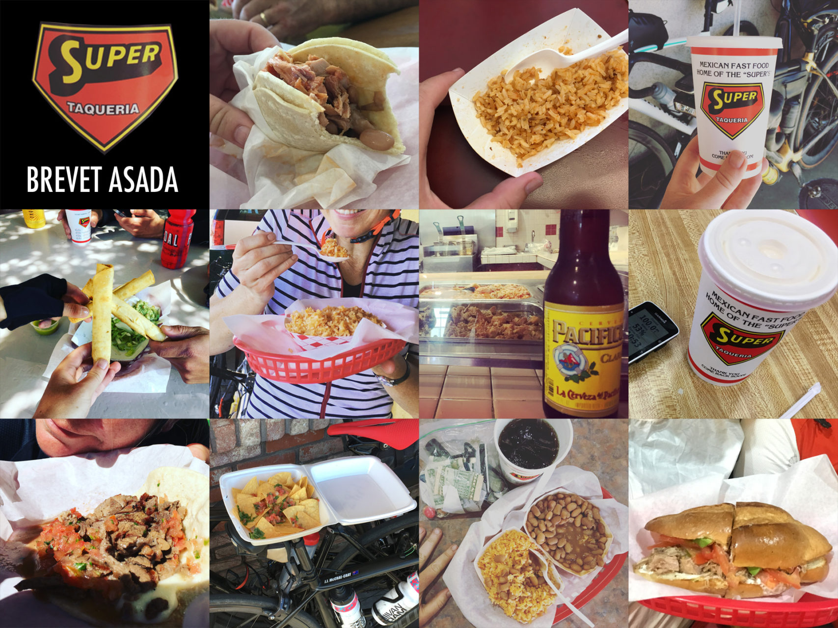 I took a picture of everything I consumed at each Super Taqueria. This is the final tally.